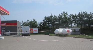 Wyciek gazu na stacji paliw