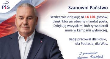 Poseł Kazimierz Gwiazdowski dziękuje