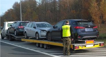 Kilkumiesięczny, kradziony lexus nie wyjechał na Litwę