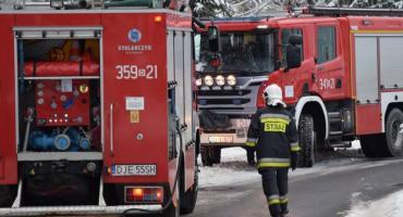 Interwencja straży pożarnej przy ulicy 11 listopada