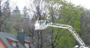 Interwencja straży pożarnej przy ulicy Kasprowicza