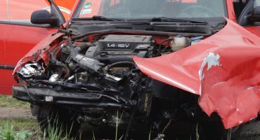 Zderzenie osobówki z tirem na trasie Legnica - Złotoryja