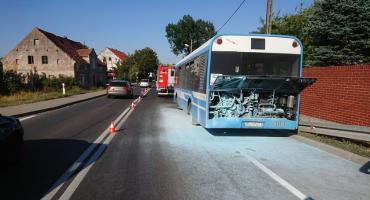 Spłonął autobus MPK w Spalonej. Pożar ugasiła jego kierowczyni