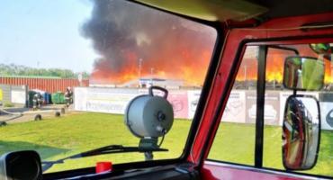 Wielki pożar w Ostrowie. Dym widać aż w Kaliszu