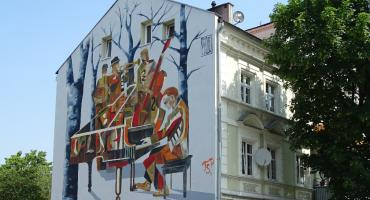 Mural na kamienicy przy ulicy Górnośląskiej 9 uroczyście odsłonięty