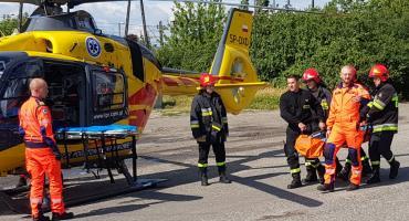 Helikopter Lotniczego Pogotowia Ratunkowego lądował obok dworca PKP. Film