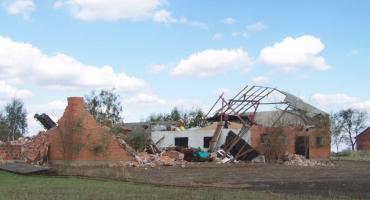 Nawałnica siała spustoszenie w gminie Blizanów