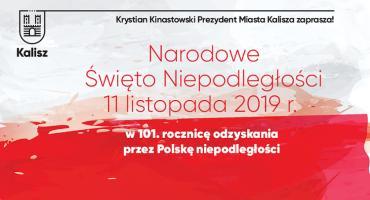 11 listopada w Kaliszu - obchody 101. rocznicy odzyskania przez Polskę niepodległości