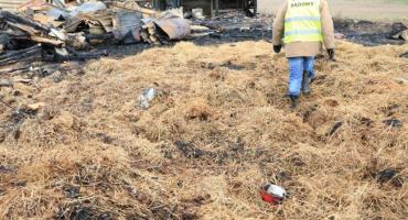 Policjanci złapali podpalacza. Podpalił stodołę w gminie Świekatowo
