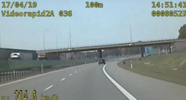 Ponad 210 km/h na autostradzie, publikujemy nagranie z wideorejestratora. Czy kara nie jest zbyt łagodna?
