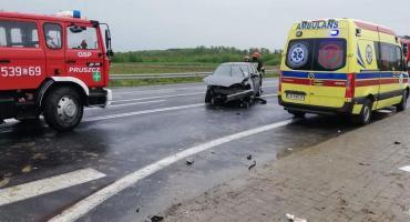 Wypadek w Zbrachlinie. Co wydarzyło się na krajowej piątce? [ZDJĘCIA]
