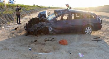 Śmiertelny wypadek w Grucznie. Nie żyje jedna osoba [ZDJĘCIA]