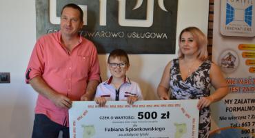 Michał Kulpa i Fabian Spionkowski nagrodzeni przez Grupę Towarowo Usługową