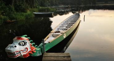 Na plaży w Gródku będą zawody smoczych łodzi