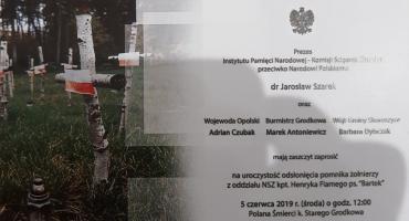 """Odsłonięcie pomnika oddziału """"Bartka"""""""