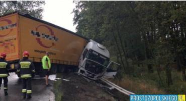 Ciężarówką wpadł do rowu