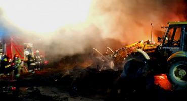 Wielki pożar gumowych odpadów