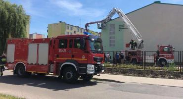 Ogień przy ul. Lasockiego