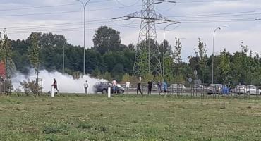 Zapalił się samochód [ZDJĘCIA]