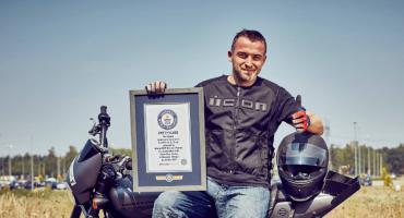 Motocyklista z Płocka w Księdze Rekordów Guinnessa