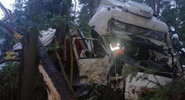 Wielkie zderzenie ciężarówek w Mańkowie
