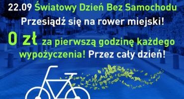Darmowa godzina jazdy rowerem miejskim już w najbliższą niedzielę. Z okazji Dnia bez Samochodu