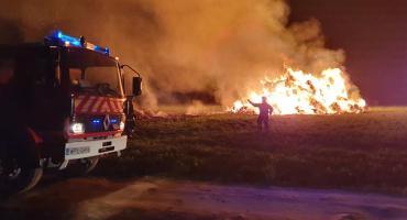 Potężny pożar w gminie Bulkowo. Na miejscu 11 zastępów straży