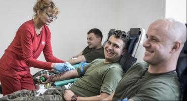 Żołnierze oddali ponad 7 litrów krwi