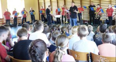 Niemiecka orkiestra dęta wystąpiła w Bobrownikach