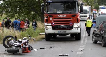39-letni motocyklista ranny w wypadku