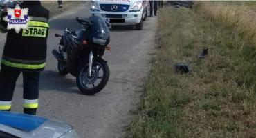 Spadł z motocykla wprost pod nadjeżdżający samochód
