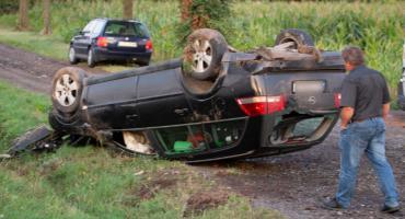 Wypadek na K48. Sprawca nie zatrzymał się