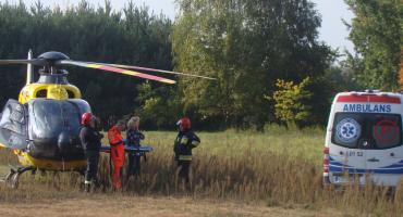 Ryki - 69-latka w ciężkim stanie zabrał helikopter