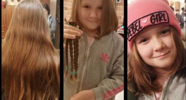 Dęblin: Zuzia oddała włosy, by pomóc chorym na nowotwór