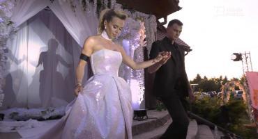 Doda jako modelka w sukni ślubnej Patrycji Kujawy