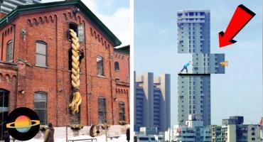 TOP 10: Najbardziej kreatywne reklamy na budynkach. Czegoś takiego nie widziałeś!