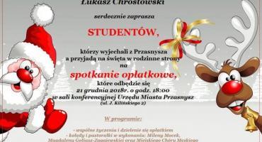 Spotkanie opłatkowe Studentów - zaproszenie