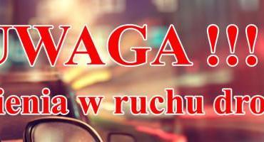 Uwaga! Jutro utrudnienia w ruchu drogowym w Rostkowie