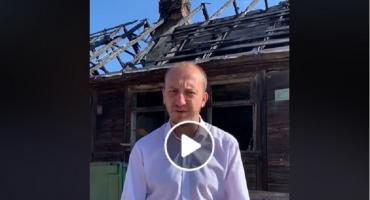 Trwa rozbiórka starego domu na ul.Świerczewo [Wideo]