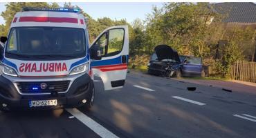 Wypadek w Karolewie. Jedna osoba został poszkodowana.