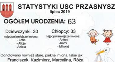Statystyki USC w Przasnyszu - lipiec 2019