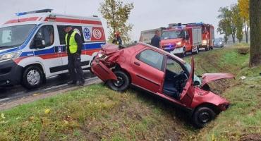 W Klewkach auto wypadło z drogi [Aktualizacja]