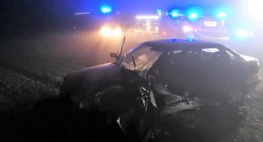 Wypadek osobówki w Wielodróżu [Aktualizacja]
