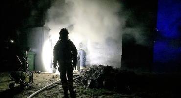 Pożar w domu jednorodzinnym w Karwaczu