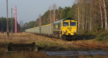 Do Chorzel przyjechał pociąg FPL 554006 relacji Zaręba - Wielbark (Chorzele)