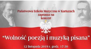 Koncert z okazji odzyskania Niepodległości w Szkole Muzycznej w Kartuzach