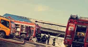 Dziesięć strażackich zastępów walczyło z pożarem hali w Chwaszczynie