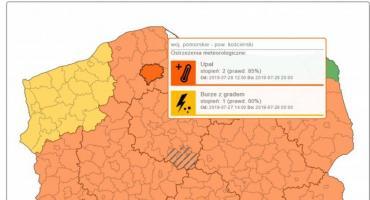 Wydano ostrzeżenia przed burzami i ulewami