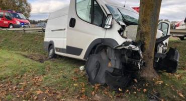 Wypadek w Leźnie - 24-latek w szpitalu
