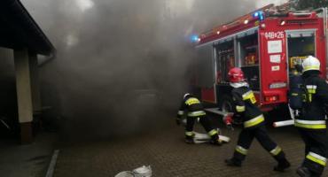 Pożar w szkolnej toalecie - ewakuacja w Szkole Podstawowej w Staniszewie